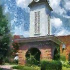 Clock Tower on the Square in Downtown Franklin by Jean Gregory  Evans