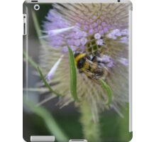 Bumble Bee sitting on a Teasel (Dipsacus) iPad Case/Skin