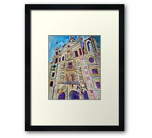The Inky Towers Of Madrid Framed Print