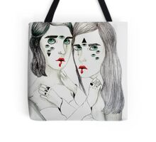 Lovers Lost In Space Tote Bag