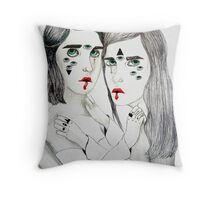 Lovers Lost In Space Throw Pillow