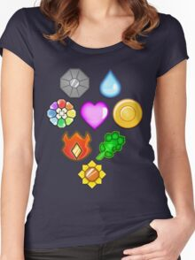 Pokémon! Gym Badges! Women's Fitted Scoop T-Shirt