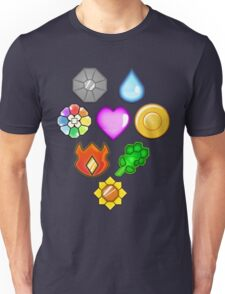 Pokémon! Gym Badges! Unisex T-Shirt