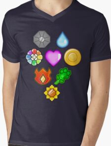 Pokémon! Gym Badges! Mens V-Neck T-Shirt