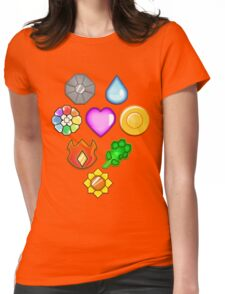 Pokémon! Gym Badges! Womens Fitted T-Shirt