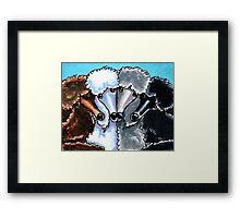 Poodles Four Miniature Blue Framed Print
