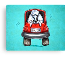 Poodle-Mobile Turquoise Canvas Print