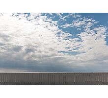 White Fence Photographic Print