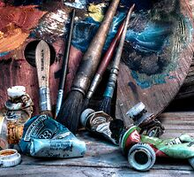 artists pallette by wolfman57