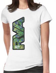 rva - irises by van gogh Womens Fitted T-Shirt