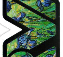rva - irises by van gogh Sticker