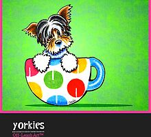 Yorkies Yorkshire Terriers Off-Leash Art™ Vol 1 by offleashart