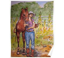 Cowgirl Series: Picture Day Poster