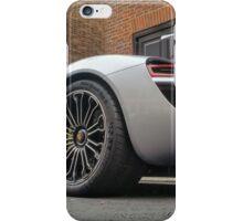 Porsche 918 Spyder Silver DUBAI plate iPhone Case/Skin