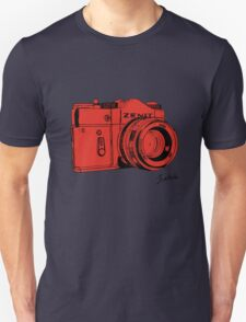 Red Russian Camera Unisex T-Shirt