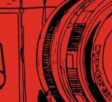 Red Russian Camera Sticker