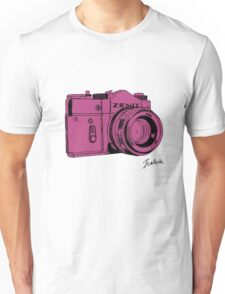 Pink Russian Camera Unisex T-Shirt