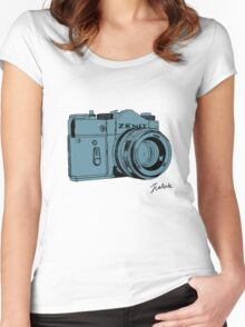 Blueish Russian Camera Women's Fitted Scoop T-Shirt