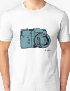 Blueish Russian Camera T-Shirt