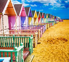 Pastel Beach Huts 2 by Chris Thaxter