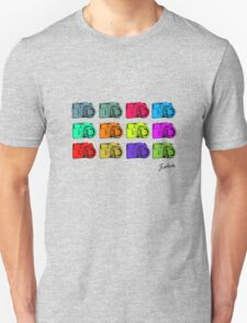 Multi colour Russian Cameras Unisex T-Shirt