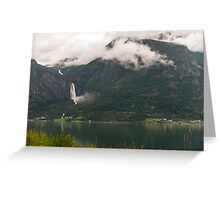 Majestic mountain in Sognefjorden Greeting Card