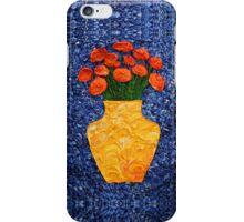 Orange Flower Bouquet iPhone Case/Skin