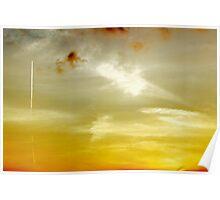 Sunset Sky in Norfolk Poster