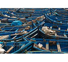 Blue fishing boats  Photographic Print