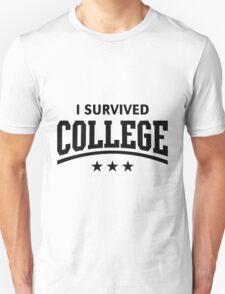 I Survived College (Black) T-Shirt
