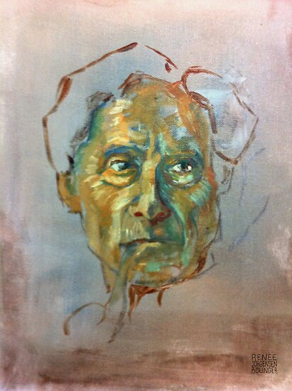Bertrand Russell (Sketch) by Renee Bolinger
