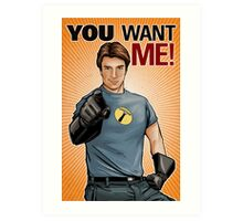 Captain Hammer - You Want Me Art Print