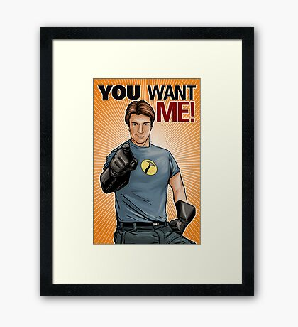 Captain Hammer - You Want Me Framed Print