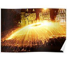 Scottish Castle by light. Poster