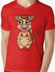 funny cartoon cow Mens V-Neck T-Shirt