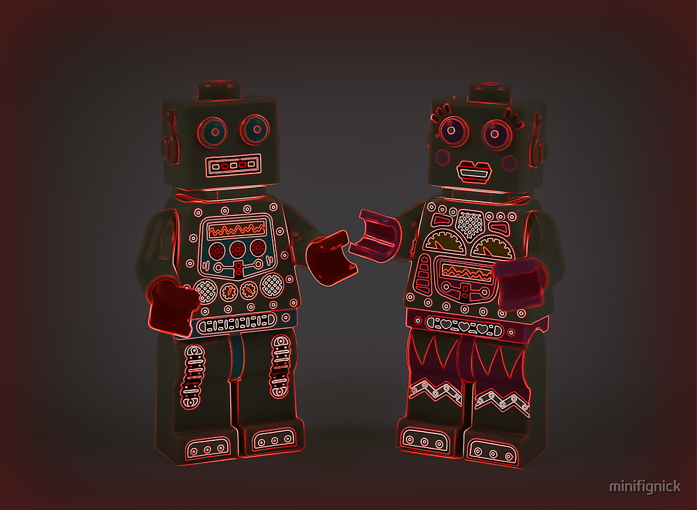 Robot Love Neon  by minifignick