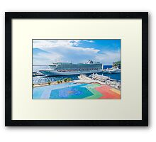 Monte Carlo Coast Framed Print