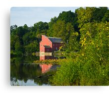 Mill Across Water Canvas Print