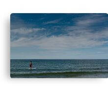 Stand Up Paddle Surfing Canvas Print
