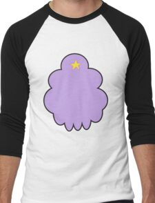 Minimalist Lumpy Space Princess Men's Baseball ¾ T-Shirt