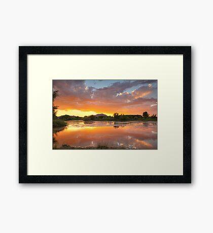 Sunset Surround 2 Framed Print