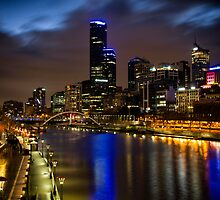 Melbourne City Lights by Kerrie Gerlach