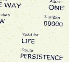 Ticket To Success Sticker