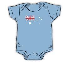Australian Flag T Shirt is Background colour One Piece - Short Sleeve
