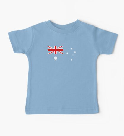 Australian Flag T Shirt is Background colour Baby Tee