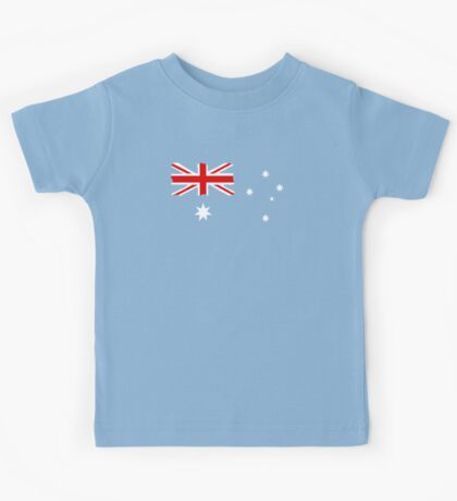 Australian Flag T Shirt is Background colour Kids Tee