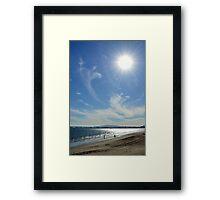 Sunny Beach Day Framed Print