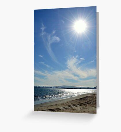 Sunny Beach Day Greeting Card