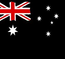 Australin Flag CARD/POSTER Black  by Radwulf