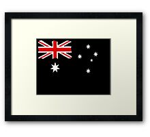 Australin Flag CARD/POSTER Black  Framed Print